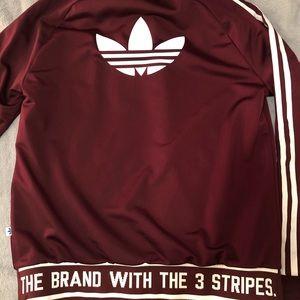 Adidas Zip up burgundy/maroon dry fit jacket!!!